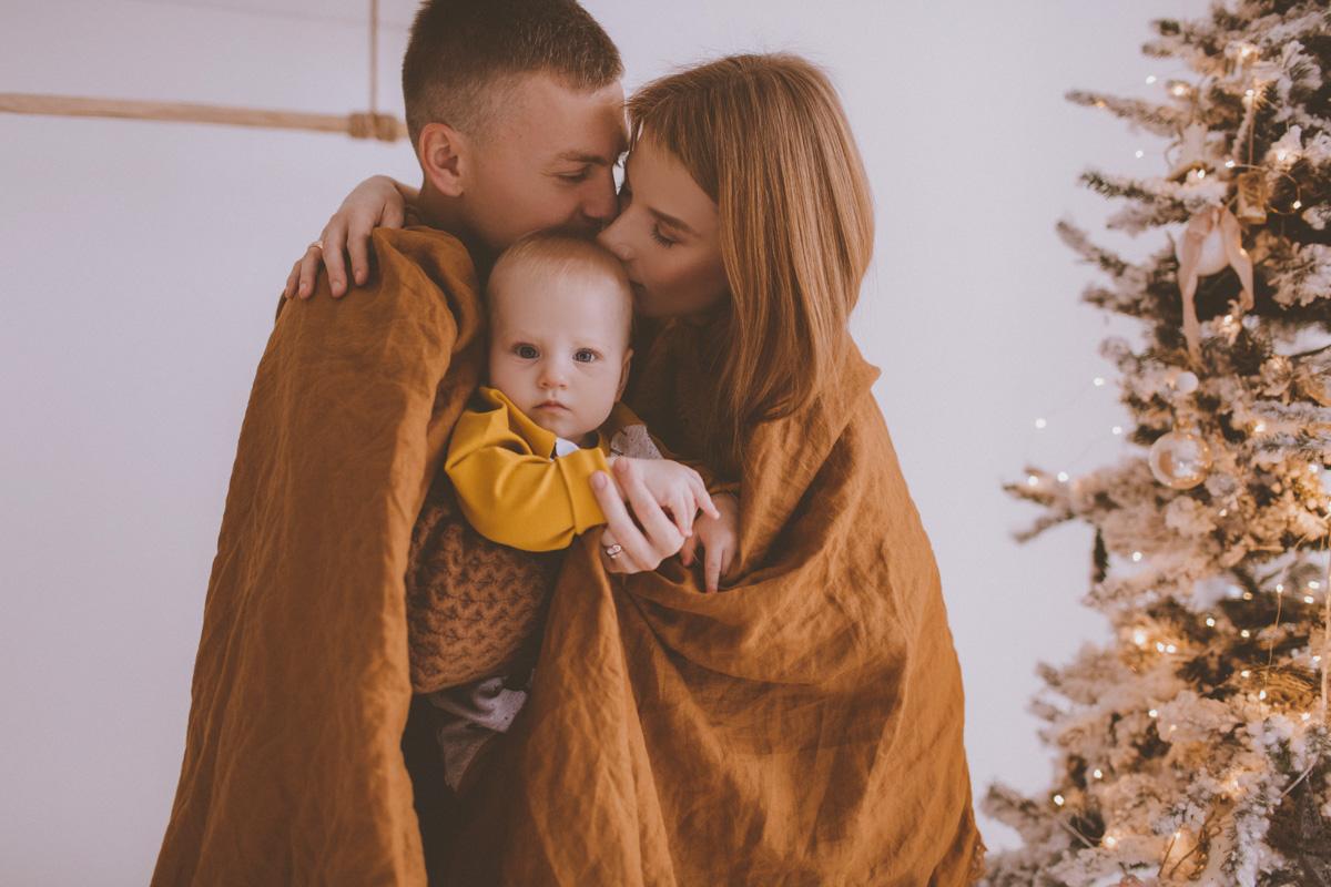 Семейная фотосессия Юра, Вика и Альбина 11